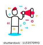 vector business illustration of ... | Shutterstock .eps vector #1153570993