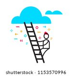 vector business illustration of ... | Shutterstock .eps vector #1153570996