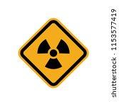 radiation sign yellow hazard...   Shutterstock .eps vector #1153577419