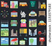 set of 25 icons such as parking ...