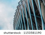 stadium wall  metal... | Shutterstock . vector #1153581190