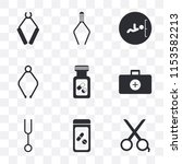 set of 9 simple transparency...   Shutterstock .eps vector #1153582213