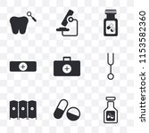 set of 9 simple transparency...   Shutterstock .eps vector #1153582360