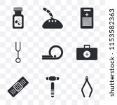 set of 9 simple transparency...   Shutterstock .eps vector #1153582363