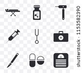 set of 9 simple transparency...   Shutterstock .eps vector #1153582390
