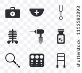 set of 9 simple transparency...   Shutterstock .eps vector #1153582393