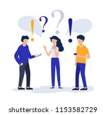 people are discussing ... | Shutterstock .eps vector #1153582729