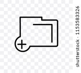 add folder button vector icon...   Shutterstock .eps vector #1153583326