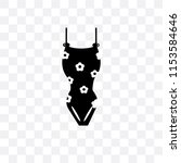 bikini vector icon isolated on... | Shutterstock .eps vector #1153584646