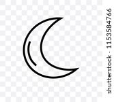 basic moon vector icon isolated ... | Shutterstock .eps vector #1153584766