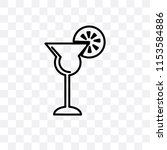 cocktail glass vector icon... | Shutterstock .eps vector #1153584886