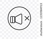 volume off speaker vector icon... | Shutterstock .eps vector #1153584913