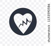 lifeline of heartbeats on a... | Shutterstock .eps vector #1153590586