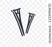 crutches couple vector icon...   Shutterstock .eps vector #1153590670