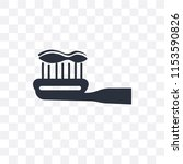 brush with tooth paste vector...   Shutterstock .eps vector #1153590826