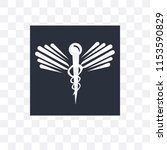 caduceus medical vector icon... | Shutterstock .eps vector #1153590829
