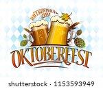 oktoberfest vector banner or...   Shutterstock .eps vector #1153593949