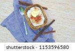 rice porridge for breakfast... | Shutterstock . vector #1153596580