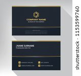 business model name card luxury ... | Shutterstock .eps vector #1153599760