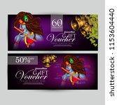 innovative design  gift voucher ... | Shutterstock .eps vector #1153604440