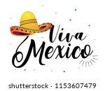 """viva mexico"" traditional... | Shutterstock .eps vector #1153607479"