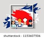 'labor day' celebration banner... | Shutterstock .eps vector #1153607506
