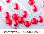 tablets pills capsule heap mix... | Shutterstock . vector #1153614433