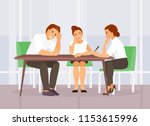 upset and tired business people ... | Shutterstock .eps vector #1153615996