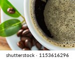 cup of coffee whit bean and...   Shutterstock . vector #1153616296