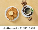 cup of black coffee whit...   Shutterstock . vector #1153616500