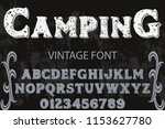 classic vintage decorative font ... | Shutterstock .eps vector #1153627780
