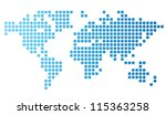 dotted world map made of... | Shutterstock .eps vector #115363258