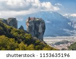 monastery holy trinity in... | Shutterstock . vector #1153635196