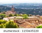 beautiful view of the pienza on ... | Shutterstock . vector #1153635220