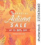 autumn special offer banner... | Shutterstock .eps vector #1153636660