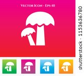 mushrooms icon in colored... | Shutterstock .eps vector #1153636780