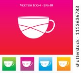 tea or coffee cup icon in... | Shutterstock .eps vector #1153636783