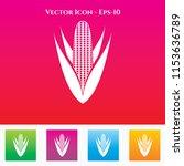 corn icon in colored square box....   Shutterstock .eps vector #1153636789