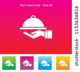 food service icon in colored... | Shutterstock .eps vector #1153636816