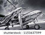 sports plane on a runway | Shutterstock . vector #1153637599