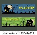 halloween banners design...   Shutterstock .eps vector #1153644799