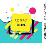 abstract modern vector shape... | Shutterstock .eps vector #1153646326