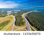 aerial view of highway in city. ...   Shutterstock . vector #1153650070