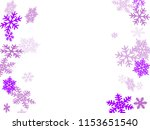 winter snowflakes border magic... | Shutterstock .eps vector #1153651540