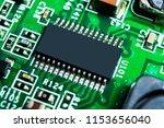 macro shot of a circuitboard... | Shutterstock . vector #1153656040