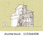sketching historical... | Shutterstock .eps vector #115366408