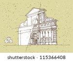 sketching historical... | Shutterstock .eps vector #115366408