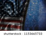 usa flag vintage background | Shutterstock . vector #1153665733