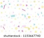 memphis style geometric... | Shutterstock .eps vector #1153667740