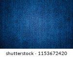 blue denim jeans texture.  ... | Shutterstock . vector #1153672420